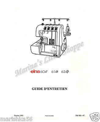 Elna 604E, 614DE, 624DSE Service Manual & Parts