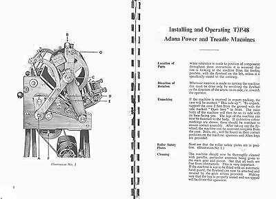 Adana TP48 PRINTING PRESS INSTRUCTION MANUAL OPERATORS