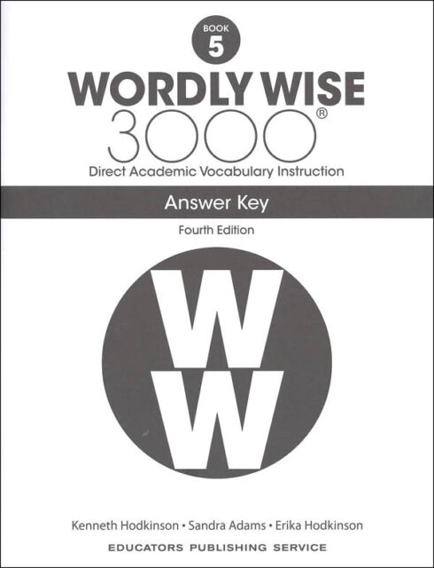 4th Edition Wordly Wise 3000 Grade 5 Key for sale online