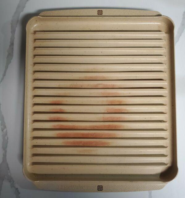 vintage littonware reversible microwave oven bacon tray roasting rack 39437