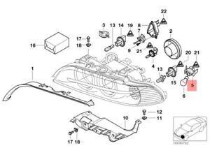 Genuine BMW E39 Sedan Wagon Front Bulb Socket For Turn