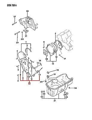 NEW Dodge OEM Lower Engine Timing Belt Cover MD104024