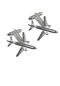 Boeing 737-800 Pewter Emblem Cufflinks Jewellery Smart