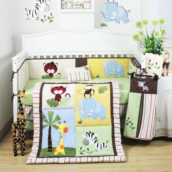 Baby Boy Nursery Bedding Set Animals