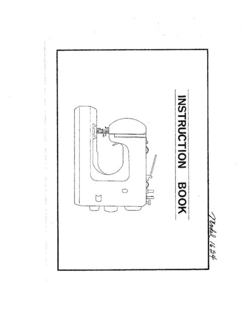 White W1624 Sewing Machine/Embroidery/Serger Owners Manual