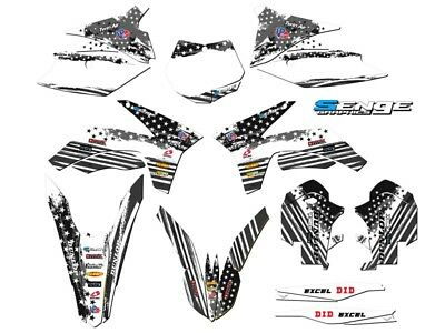 2011 2012 FITS KTM XC XCF 150 250 300 350 GRAPHICS KIT