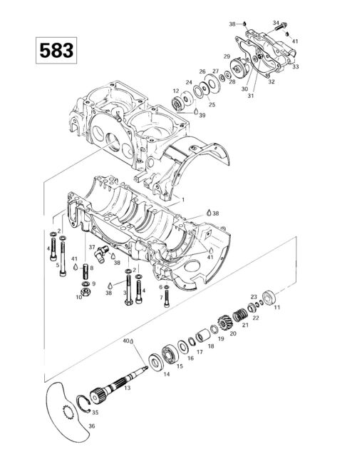 Ski-Doo parts manual catalog book 1997 SUMMIT 500, SUMMIT