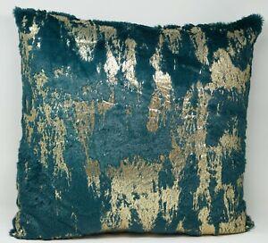 details about envogue faux fur 20 x 20 decorative pillow green gold