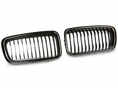 * BMW E38 BLACK CHROME KIDNEY FRONT BUMPER GRILL GRILLE 7