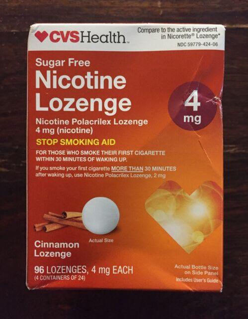 CVS Health Nicotine Lozenge 4mg Cinnamon 96 Count for sale ...