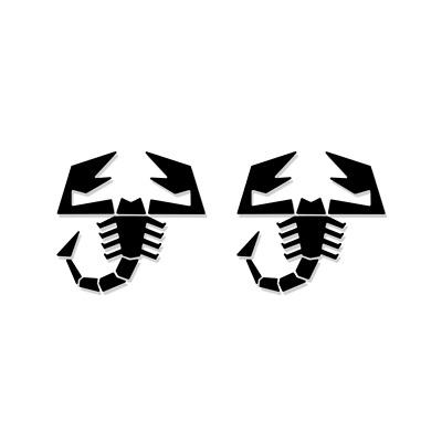 2x Fiat Abarth 500 Scorpion Interior/Exterior Logo Decal