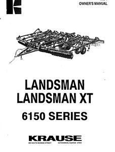 Krause 66150 Landsman XT Owners Operator Maintenance