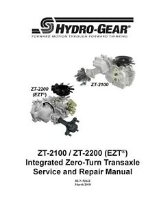 Hydro Gear EZT (ZT & EZT Models) Transaxle Repair Manual
