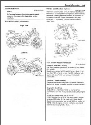 2010-2012 Suzuki GSX-R600 Service Repair Manual on a CD