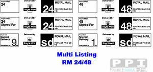 Royal Mail PPI 24 48 Signed For Special Delivery Sheet