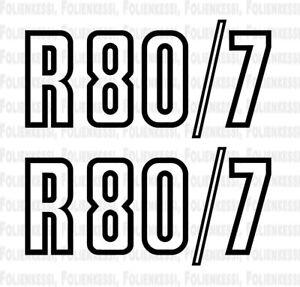 BMW R80/7 2 x Seitendeckel Aufkleber, Side Panel Logo