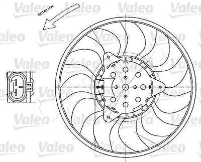 VALEO Radiator Condenser Cooling Fan 280 mm Fits OPEL