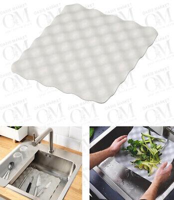 kitchen sink mat dish drainer cup glass scratch protector anti slip ikea ebay