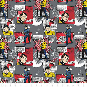 Iron Star Trek Comic Quotes Cotton Camelot Fabric #5724 By the Yard