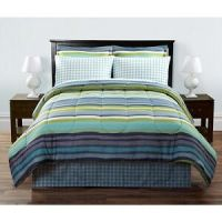"(6) Pc Sears Bed-in-a-Bag ""Hayden"" ~ Blue Aqua Green White ..."