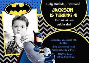 details about batman superhero birthday party birthday invitation