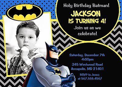 batman superhero birthday party birthday invitation ebay