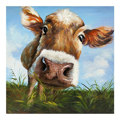 hand painted cow modern