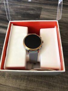 Fossil Women's Gen 4 Q Venture HR Rose Gold, Grey Touchscreen Smartwatch FTW6016