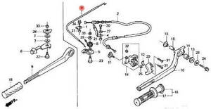 17920-ZW6-020 Honda Marine Throttle Cable B for BF2D and