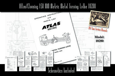 Atlas/Clausing 150 MM Metric Metal Turning Lathe 10200