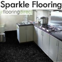 Kitchen Vinyl Flooring Cleaning Services Black Sparkly Glitter Effect Floor Sparkle Image Is Loading