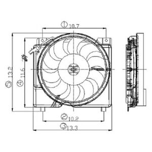 For Jeep Cherokee 1997-2001 Replace Radiator Fan Assembly