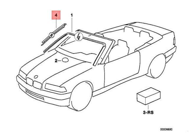 Genuine BMW E36 318i 320i 323i 325i 328i M3 3.2 Covering