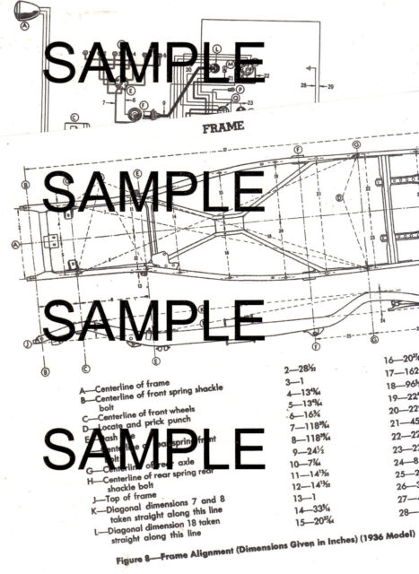 1940 PLYMOUTH ALL MODELS 40 WIRING & FRAME CHART WITH