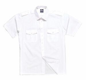 Pilot Shirt Short Sleeve Epaulet Security Guard Military