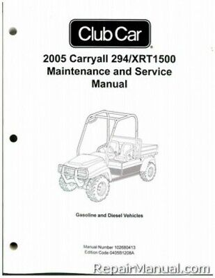 2005 Club Car Carryall 294, XRT1500 Gas Diesel Golf Cart