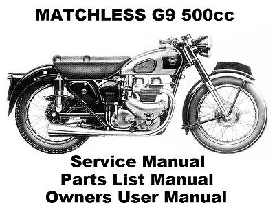 MATCHLESS G9 CLUBMAN 500 Owners Workshop Service Repair