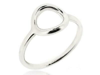 925 Sterling Silver Geometry Eternal Round Small Circular Ring Women Size 5 12 Ebay