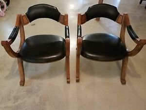 drexel heritage chairs red kitchen table pair vintage black arm chair 1970 s x dante image is loading