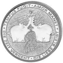 1 oz. Feinsilber 999.9 Tuvalu ***Ottifant*** 2020 - stgl./BU Münzkapsel