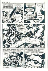 JACK KIRBY SILVER STAR #5 ORIGINAL COMIC PROOF PAGE PRODUCTION ART KING KRACKLE!