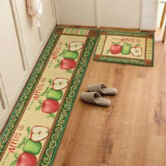 Apple Kitchen Rugs Cafe Wall Decor Yazi 1 2pcs Vintage Countryside Rug Anti Slip Floor Image Is Loading