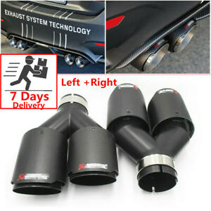 details about pair akrapovic real carbon fiber id 2 5 od 3 5 car exhaust tip dual pipes end