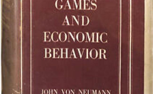 John Von Neumann Oskar Morgenstern Theory Of Games And