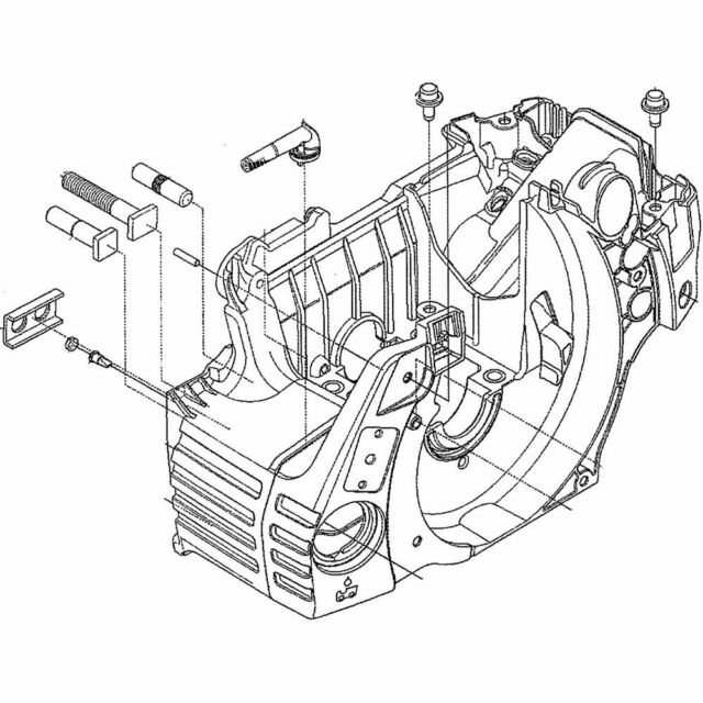 Husqvarna 537438201 Chainsaw Engine Crankcase Assembly