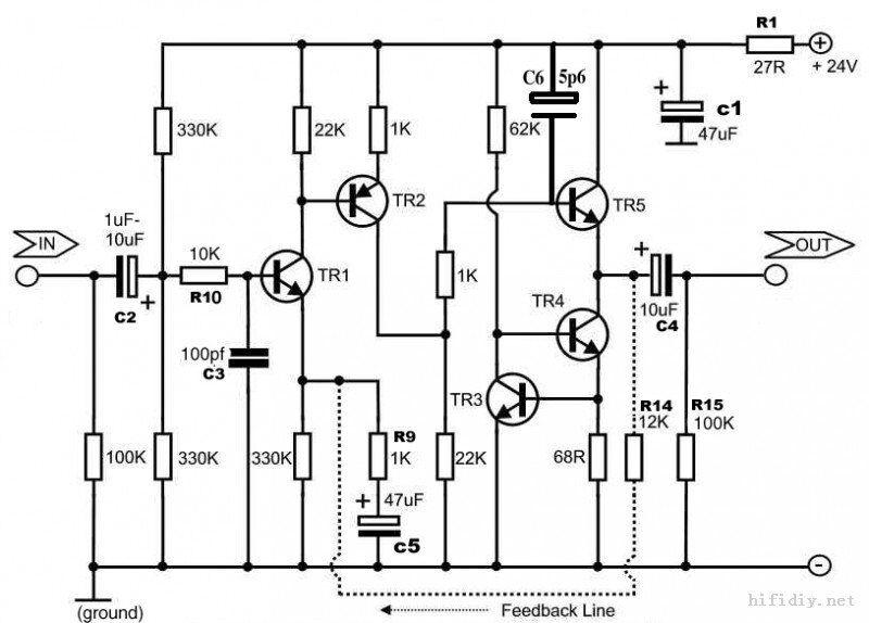 Assembly 2N5087 / 2N5089 Mono Preamplifier Board Based on