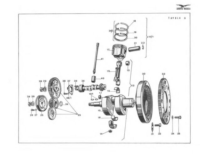Moto Guzzi parts manual 850 Eldorado and 850 California