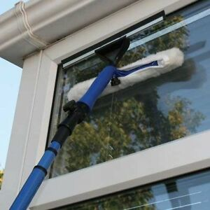 35M TELESCOPIC WINDOW CLEANER KIT WINDOW CLEANING EQUIPMENT SQUEEGEE SOFT HEAD 87654322696  eBay