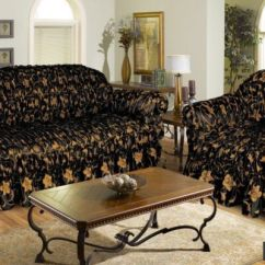 Sofa Covers Low Price Springs Uk Jacquard Cover Settee 1 Seater Black Gold Elastic Fitting Brand New Lowest