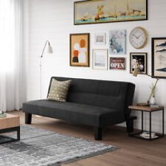 Atherton Home Soho Convertible Futon Sofa Bed And Lounger Carlyle Sectional Sofas Black Ebay Sleeper Frame Mattress Dorm Living Room Couch